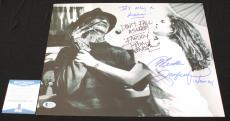 Robert Englund Heather Langenkamp signed 11x14,Nightmare on Elm St, Beckett BSA2