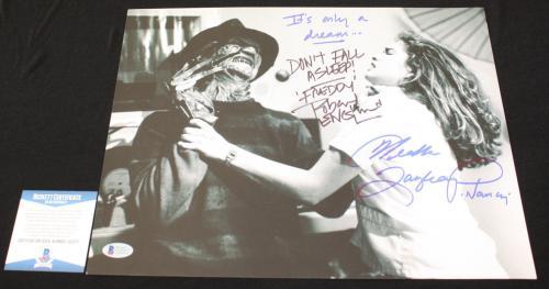 Robert Englund Heather Langenkamp signed 11x14,Nightmare on Elm St, Beckett BSA2