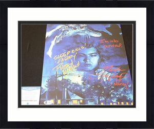Robert Englund Heather Langenkamp signed 11x14,Nightmare on Elm St, Beckett BSA4