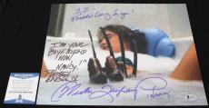 Robert Englund Heather Langenkamp signed 11x14,Nightmare on Elm St, Beckett BSA5