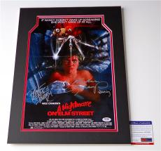 Robert Englund & Heather Langenkamp Signed A Nightmare On Elm Street Poster Psa