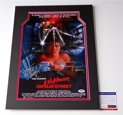 Robert Englund & Heather Langenkamp Signed A Nightmare On Elm Street Poster Psa