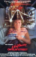 Robert Englund & Heather Langenkamp Signed Nightmare on Elm St. 27x40 Movie Poster
