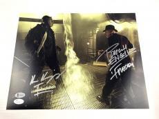Robert Englund Ken Kirzinger Autograph  11x14 Photo Freddy vs Jason BAS JSA