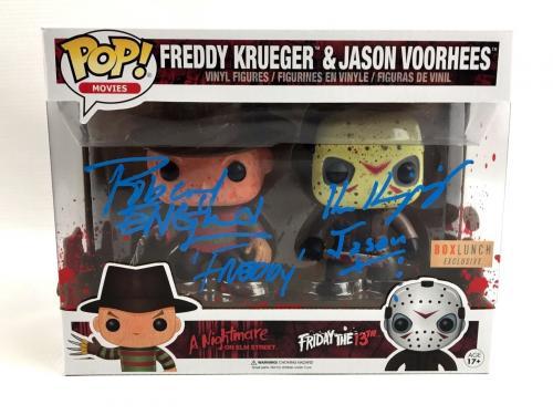 Robert Englund Ken Kirzinger Autograph Funko POP Freddy Krueger Jason BAS COA 2