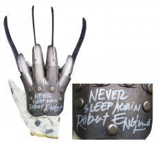 "Robert Englund ""Never Sleep Again"" Signed Metal Freddy Krueger Glove BAS #I64456"