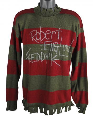 "Robert Englund Nightmare On Elm St ""Freddy K"" Signed Costume Sweater BAS"