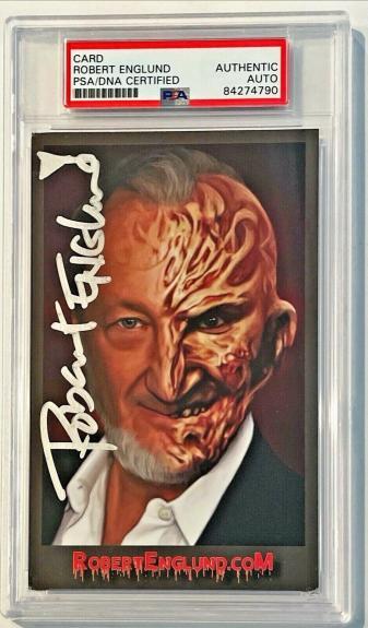 Robert Englund Nightmare On Elm St Freddy Signed Auto 4x6 Photo Card PSA/DNA