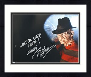 "Robert Englund Nightmare On Elm St ""Never Sleep Again"" Signed 16X20 Photo BAS"