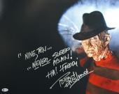 "Robert Englund Nightmare On Elm St ""Nine, Ten..."" Signed 16X20 Photo BAS Witness"