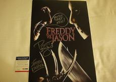 Robert Englund Nightmare On Elm St Signed Photo Movie Poster Psa/dna Coa #q60606