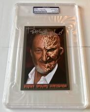 Robert Englund Nightmare On Elm Street Horror Movie Signed 4x6 PSA/DNA (B)