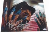 Robert Englund Signed 11x14 Photo Freddy Krueger Nightmare Psa Coa B