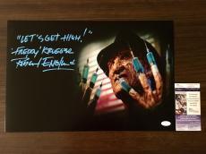 Robert Englund Signed 12x18 Photo Freddy Krueger JSA Coa Inscribed