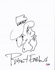 Robert Englund Signed 8.5x11 Hand Drawn Freddy Krueger Sketch PSA/DNA #AA86966