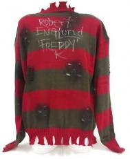 "Robert Englund Signed A Nightmare on Elm Streat Sweater inscribed ""Freddy K"" SI"