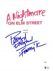 Robert Englund Signed A Nightmare On Elm Street Full Script Autograph Beckett