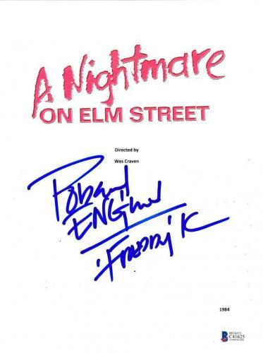 Robert Englund Signed A Nightmare On Elm Street Full Script Autograph Beckett