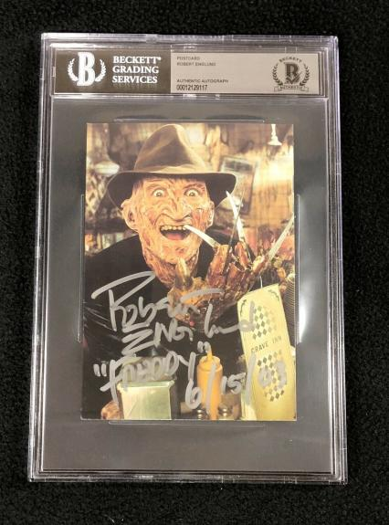 Robert Englund Signed A Nightmare On Elm Street Postcard #1 BAS Authenticated