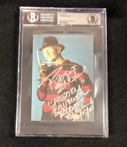 Robert Englund Signed A Nightmare On Elm Street Postcard #2 BAS Authenticated