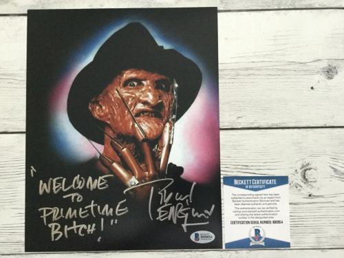 Robert Englund Signed Autographed Freddy Krueger 8x10 Photo Beckett BAS COA a