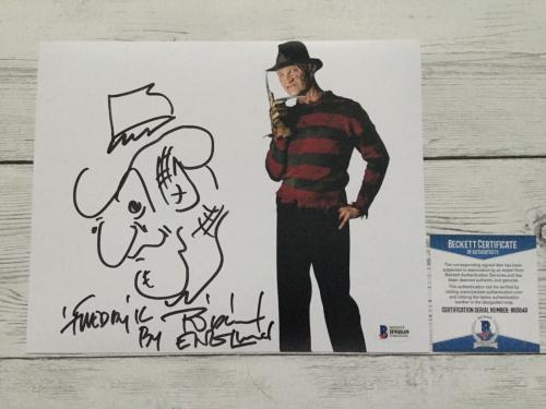 Robert Englund Signed Autographed Freddy Krueger 8x10 Photo Beckett BAS COA f