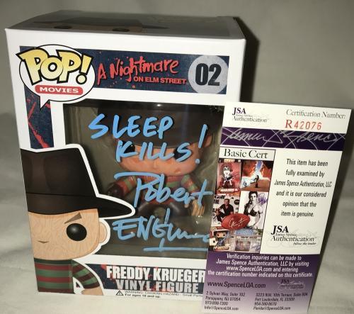 Robert Englund Signed   Autographed Freddy Krueger Friday the 13th Sleep Kills Funko Pop Toy Doll Figurine - JSA Certified