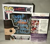 Robert Englund Signed   Autographed Freddy Krueger Friday the 13th Sweet Dreams Funko Pop Toy Doll Figurine - JSA Certified
