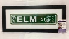 Robert Englund Signed Elm Street Sign Framed JSA Coa Inscribed