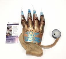 Robert Englund Signed Freddy Krueger Needle Light Up Glove JSA Coa Lets Get High