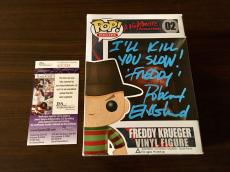 Robert Englund Signed Freddy Krueger Pop Funko JSA Coa Inscribed