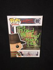 Robert Englund Signed & Inscribed Freddy Krueger Funko Pop Figure Bobble Head