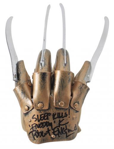 "Robert Englund ""Sleep Kills! Freddy K"" Signed Deluxe Freddy Krueger Glove BAS"