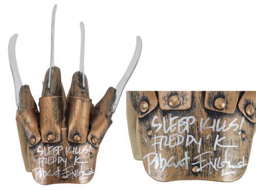 "Robert Englund ""Sleep Kills"" Signed Deluxe Freddy Krueger Glove BAS 1"