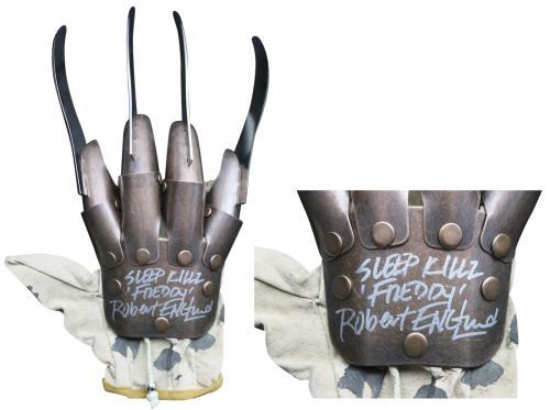 """Robert Englund """"Sleep Killz, Freddy"""" Signed Metal Freddy Krueger Glove BAS"""