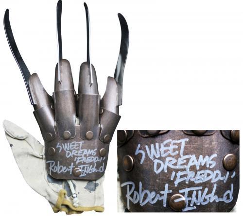 "Robert Englund ""Sweet Dreams, Freddy"" Signed Metal Freddy Krueger Glove BAS"