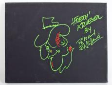 "Robert Englund""Freddy Krueger"" Signed 11x14 Canvas Original Sketch BAS #I64618"