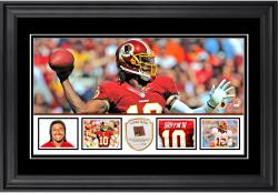 "Robert Griffin III Washington Redskins Framed 10"" x 18""  Panoramic with Piece of Game-Used Football - Limited Edition of 250"