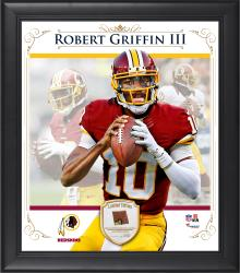 "Robert Griffin III Washington Redskins Framed 15"" x 17"" Composite Collage with Piece of Game-Used Football"