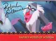 "ROBERT GUILLAUME (VOICE of RAFIKI) in ""THE LION KING"" Signed SKYBOX WALT DISNEY CARD # 164"