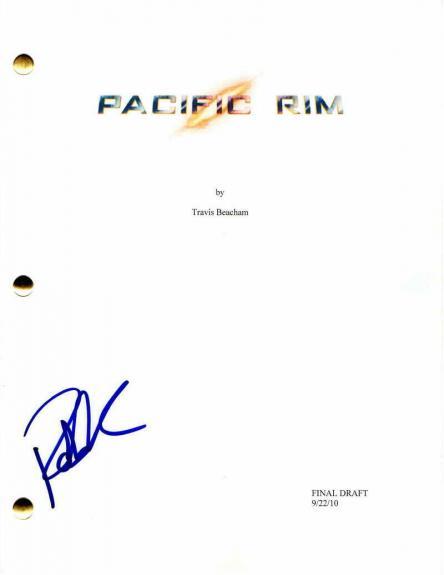 Robert Kazinsky Signed Autograph - Pacific Rim Full Movie Script - Idris Elba