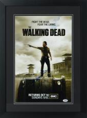 "Robert Kirkman Framed Autographed 11"" x 17"" The Walking Dead Show Poster - PSA/DNA COA"