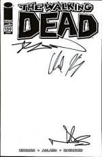 """Robert Kirkman Norman Reedus Chandler Riggs  """"THE WALKING DEAD"""" Signed 109 Comic"""