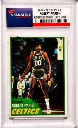 Robert Parish Boston Celtics Autographed 1981-82 Topps #6 Card
