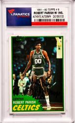 Robert Parish Boston Celtics Autographed 1981-82 Topps #6 Card with 4 X NBA Champs Inscription