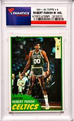 Robert Parish Boston Celtics Autographed 1981-82 Topps #6 Card with The Chief Inscription