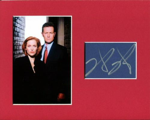 Robert Patrick The X-Files Signed Autograph Photo Display W/ Gillian Anderson