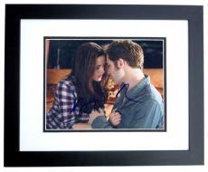 Robert Pattinson and Kristen Stewart Autographed TWILIGHT 8x10 Photo BLACK CUSTOM FRAME