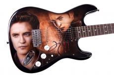 Robert Pattinson Autographed Hot Twilight Airbrush Guitar &Proof AFTAL