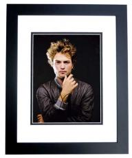 Robert Pattinson Signed - Autographed Sexy 8x10 Photo - TWILIGHT Actor - BLACK CUSTOM FRAME